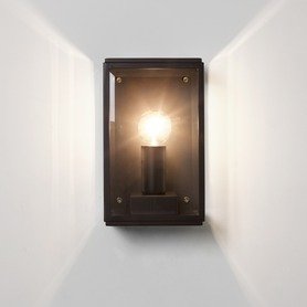 Astro Homefield 0483 Outdoor Wall Light IP44 Matt Black 1 x 60W ES